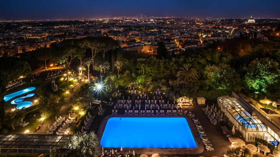 Rome Cavalieri, Waldorf Astoria Hotels & Resorts city night views